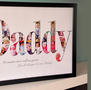 Daddy gift with black frame